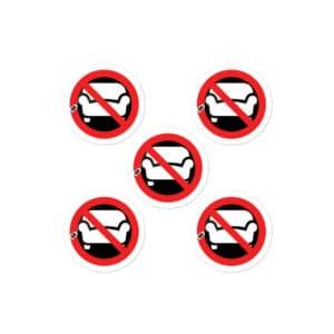 DBAC mini stickers